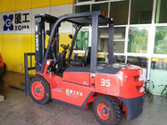3.5 Ton Electric Powered Forklift , Hand Operated Electric Forklift 80V/500Ah AC Battery